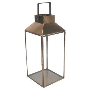 Tall Copper Box Lantern