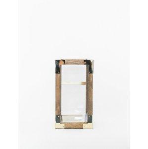 Wood & Gold Lantern - Medium