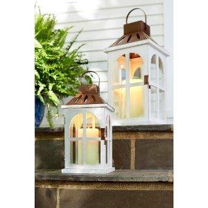 Copper & White Lantern - Large