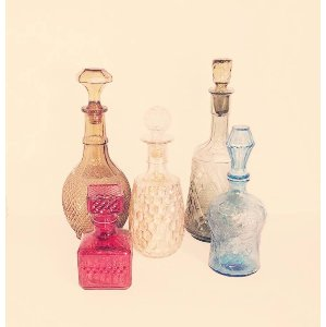 Glass Colored Decanters