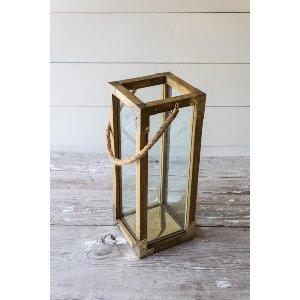 Wood & Gold Lantern - Large