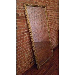 Gold Standing Mirror