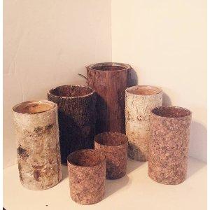 Wood Inspired Vases