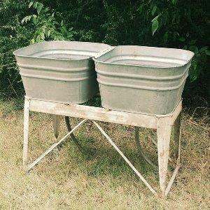Metals-Dual Wash Tub