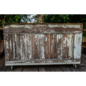 Rustic White Rolling Bar