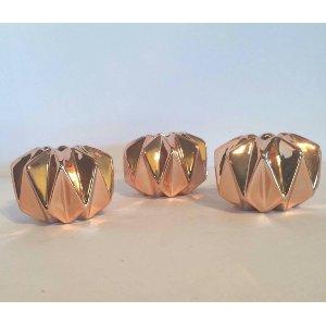 Copper Geometric Tealight