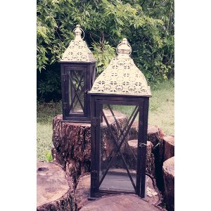 Black Beauty Lantern Pair
