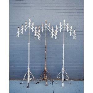 Candelabras-White Chipped
