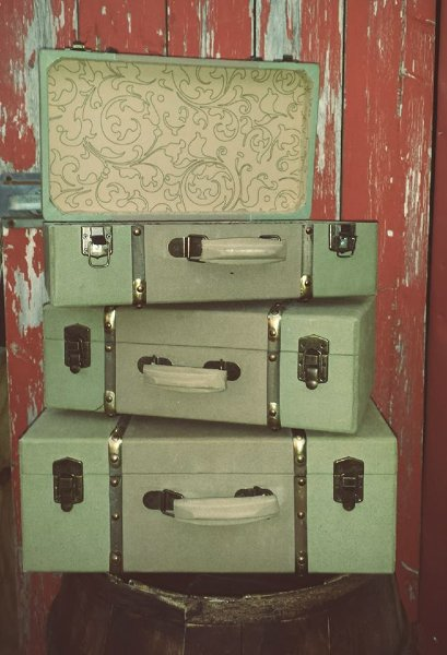 Mint Green Suitcases