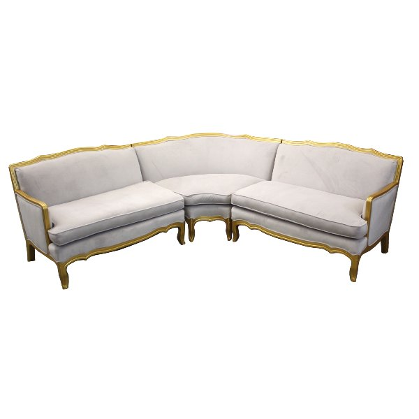 Grey Velvet Sectional