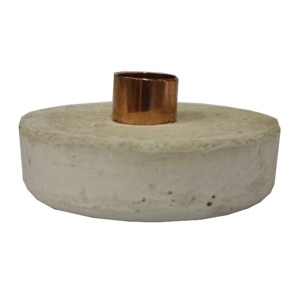 Cement + Copper Candle Holder