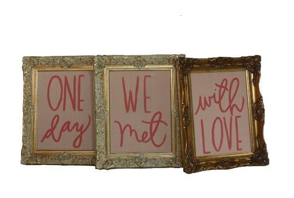 Love Poem Frames