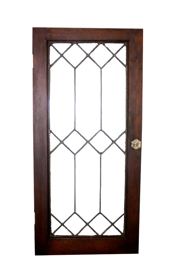 Leaded Glass Window Walnut
