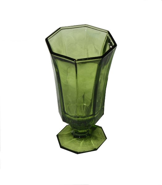 Octagon Green Goblet