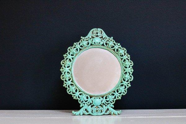 Ornate Turquoise Mirror