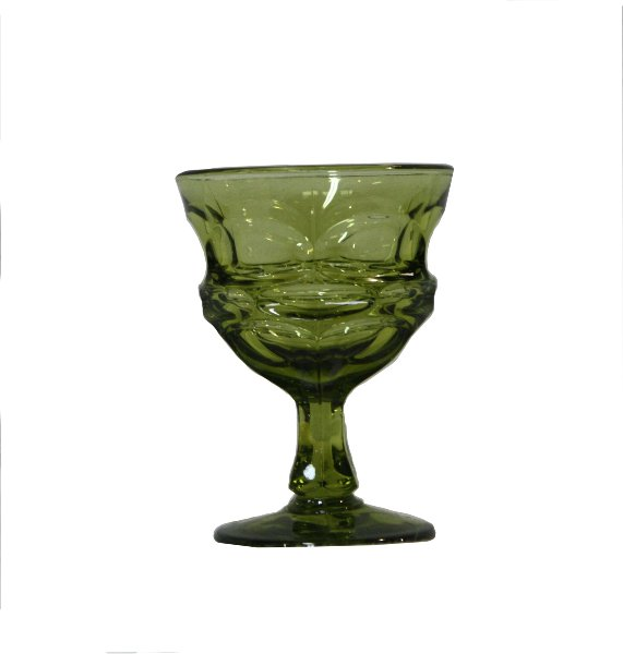 Short Juniper Green Goblet