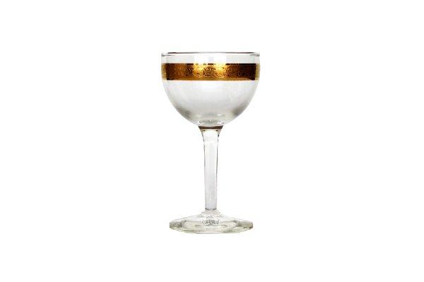 Vintage Gold Rimmed Wine Glasses