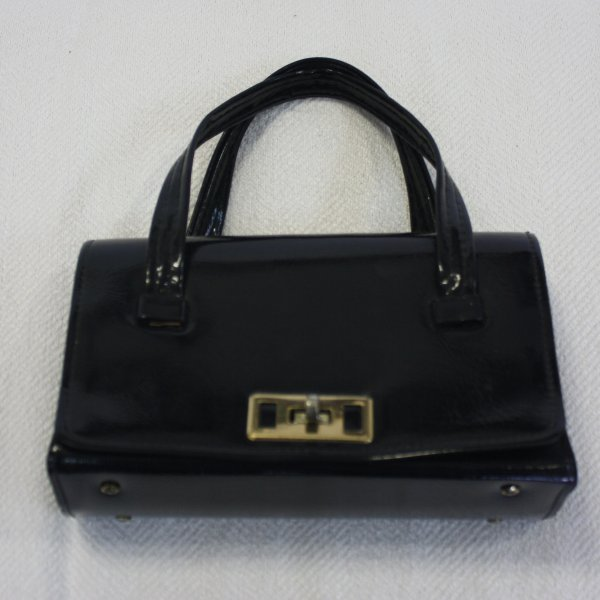 Black Patent Leather Purse