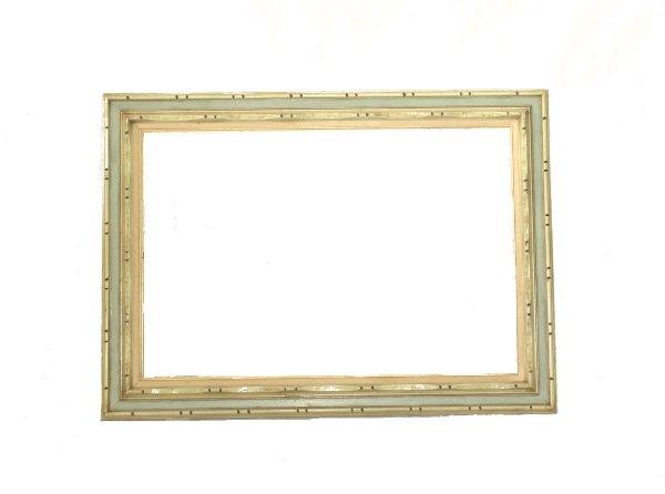 White and Blue Frame