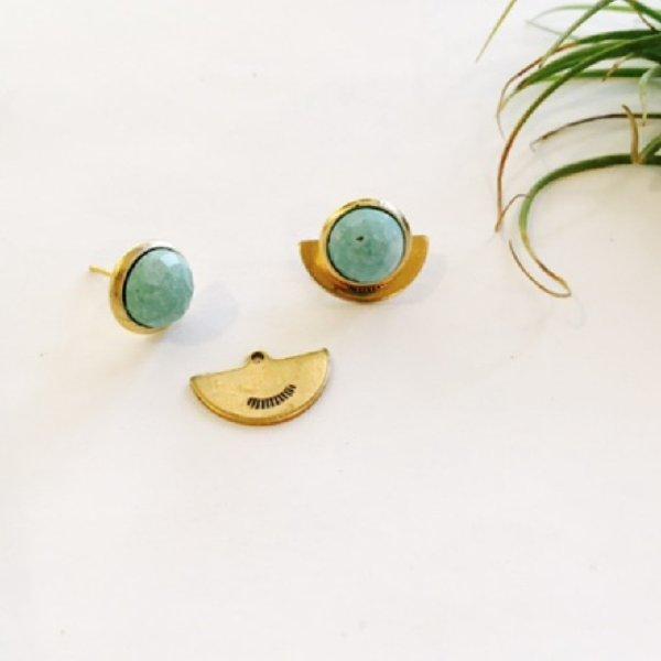 Petite Hemisphere Earrings - Turquoise