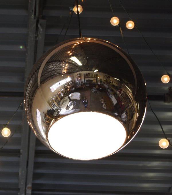 Copper Ball Pendant Light