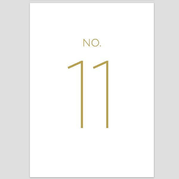 Modern Table Numbers 11-20
