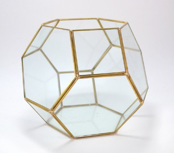 Gold Hexagon Terrarium