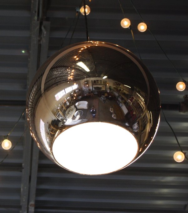 Copper Ball Pendant Light