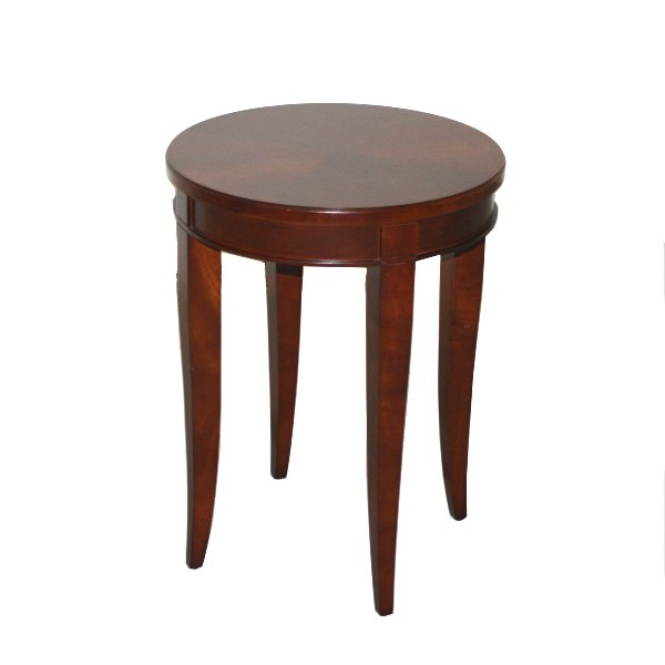 Round Cherry Side Table