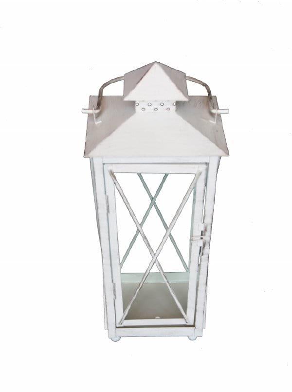 White Metal Lantern