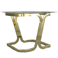 Teardrop Glass Side Table