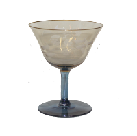 Gold and Blue Wine Glass