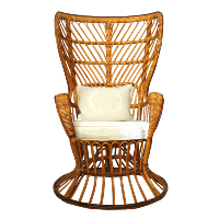 Rattan Butterfly Chair with Pillow