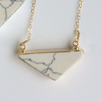 Electroplated Howlite Necklace
