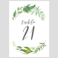 Greenery Table Numbers 21-30