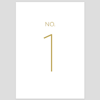 Modern Table Numbers 1-10