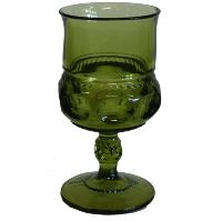 Green Thumbprint Goblet