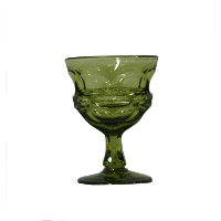 Short Juniper Green Goblet