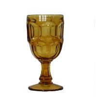 Amber Honeycomb Goblet
