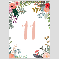Floral Table Numbers 11-20