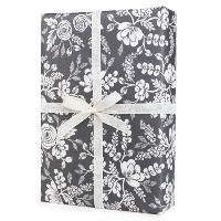 Graphite Lace Wrapping Paper