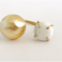 Howlite and Dome Open Ring