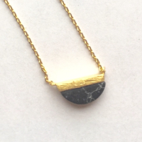 Demi-Lune Black Howlite Necklace