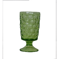Green Honeycomb Goblet