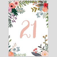 Floral Table Numbers 21-30