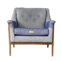 Denim Chair + Ottoman