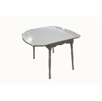 White Stripe Drop Leaf Table