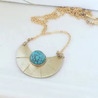 Turquoise Lune Necklace
