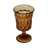 Tall Amber Goblet