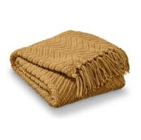 Mustard Throw Blanket